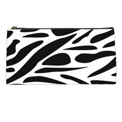 Zebra Stripes Skin Pattern Black And White Pencil Cases by CircusValleyMall
