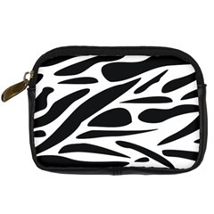 Zebra Stripes Skin Pattern Black And White Digital Camera Cases by CircusValleyMall