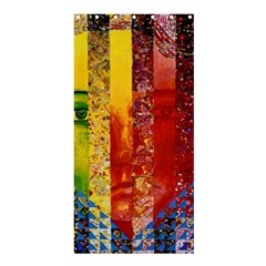 Conundrum I, Abstract Rainbow Woman Goddess  Shower Curtain 36  X 72  (stall)  by DianeClancy