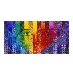 Conundrum I, Abstract Rainbow Woman Goddess  Satin Wrap by DianeClancy
