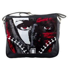 Zipper Face Messenger Bag by DryInk