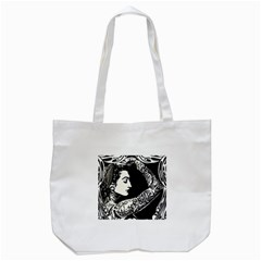Tattooed Gypsie Tote Bag (white) by DryInk