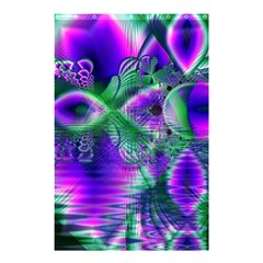 Evening Crystal Primrose, Abstract Night Flowers Shower Curtain 48  X 72  (small)  by DianeClancy