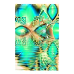 Golden Teal Peacock, Abstract Copper Crystal Shower Curtain 48  X 72  (small)  by DianeClancy