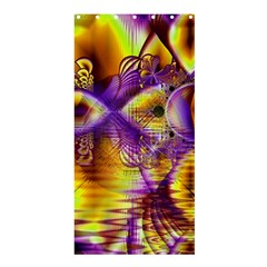 Golden Violet Crystal Palace, Abstract Cosmic Explosion Shower Curtain 36  X 72  (stall)  by DianeClancy