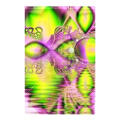 Raspberry Lime Mystical Magical Lake, Abstract  Shower Curtain 48  X 72  (small)  by DianeClancy