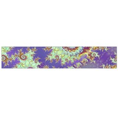 Sea Shell Spiral, Abstract Violet Cyan Stars Flano Scarf (large) by DianeClancy