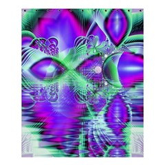 Violet Peacock Feathers, Abstract Crystal Mint Green Shower Curtain 60  X 72  (medium)  by DianeClancy