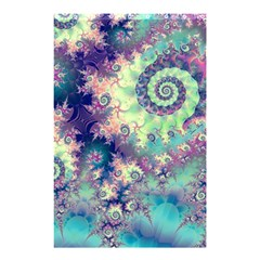 Violet Teal Sea Shells, Abstract Underwater Forest (purple Sea Horse, Abstract Ocean Waves  Shower Curtain 48  x 72  (Small)  by DianeClancy