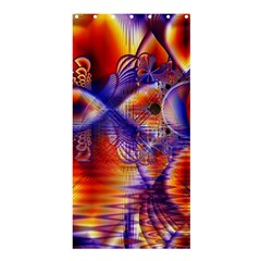 Winter Crystal Palace, Abstract Cosmic Dream (lake 12 15 13) 9900x7400 Smaller Shower Curtain 36  X 72  (stall)  by DianeClancy