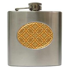Luxury Check Ornate Pattern Hip Flask (6 Oz) by dflcprints