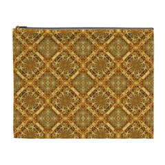 Luxury Check Ornate Pattern Cosmetic Bag (xl) by dflcprints
