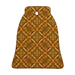 Luxury Check Ornate Pattern Ornament (bell)  by dflcprints