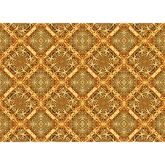 Luxury Check Ornate Pattern Birthday Cake 3d Greeting Card (7x5)  by dflcprints