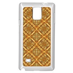 Luxury Check Ornate Pattern Samsung Galaxy Note 4 Case (white) by dflcprints
