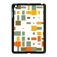 Rectangles And Squares In Retro Colors  			apple Ipad Mini Case (black) by LalyLauraFLM