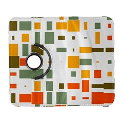 Rectangles and squares in retro colors  Samsung Galaxy S III Flip 360 Case by LalyLauraFLM