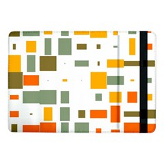 Rectangles And Squares In Retro Colors  samsung Galaxy Tab Pro 10 1  Flip Case by LalyLauraFLM