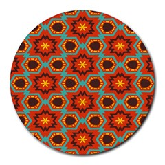 Stars Pattern   			round Mousepad by LalyLauraFLM
