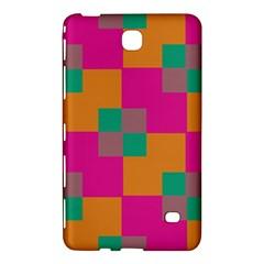 Squares    samsung Galaxy Tab 4 (7 ) Hardshell Case by LalyLauraFLM
