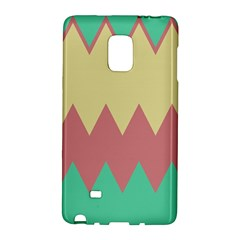 Retro Chevrons     			samsung Galaxy Note Edge Hardshell Case by LalyLauraFLM