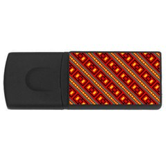 Distorted Stripes And Rectangles Pattern      			usb Flash Drive Rectangular (4 Gb) by LalyLauraFLM
