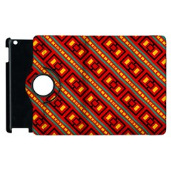 Distorted Stripes And Rectangles Pattern      			apple Ipad 2 Flip 360 Case by LalyLauraFLM