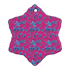 Floral Collage Revival Snowflake Ornament (2 Side) by dflcprints