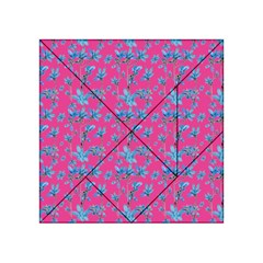 Floral Collage Revival Acrylic Tangram Puzzle (4  X 4 ) by dflcprints