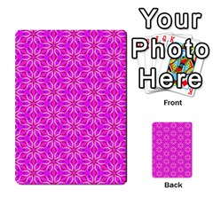 Pink Snowflakes Spinning In Winter Multi Purpose Cards (rectangle)  by DianeClancy