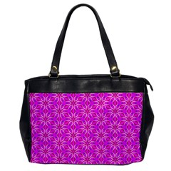Pink Snowflakes Spinning In Winter Office Handbags by DianeClancy