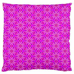 Pink Snowflakes Spinning In Winter Large Cushion Case (two Sides) by DianeClancy