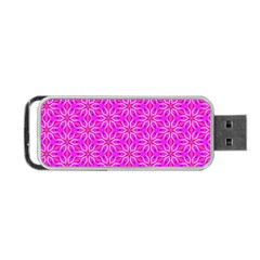 Pink Snowflakes Spinning In Winter Portable Usb Flash (two Sides) by DianeClancy