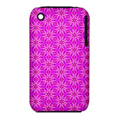 Pink Snowflakes Spinning In Winter Apple Iphone 3g/3gs Hardshell Case (pc+silicone) by DianeClancy