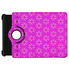 Pink Snowflakes Spinning In Winter Kindle Fire Hd Flip 360 Case by DianeClancy