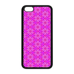 Pink Snowflakes Spinning In Winter Apple Iphone 5c Seamless Case (black) by DianeClancy