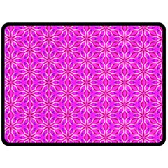 Pink Snowflakes Spinning In Winter Double Sided Fleece Blanket (large)  by DianeClancy