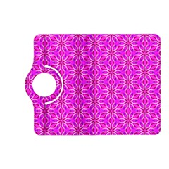 Pink Snowflakes Spinning In Winter Kindle Fire Hd (2013) Flip 360 Case by DianeClancy