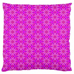 Pink Snowflakes Spinning In Winter Large Flano Cushion Case (one Side) by DianeClancy