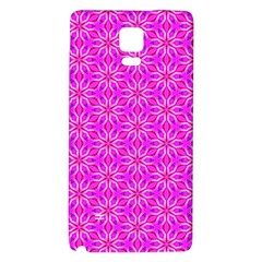 Pink Snowflakes Spinning In Winter Galaxy Note 4 Back Case by DianeClancy