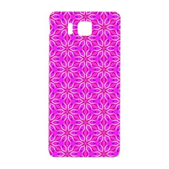 Pink Snowflakes Spinning In Winter Samsung Galaxy Alpha Hardshell Back Case by DianeClancy