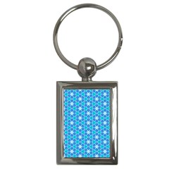 Aqua Hawaiian Stars Under A Night Sky Dance Key Chains (rectangle)  by DianeClancy