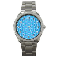 Aqua Hawaiian Stars Under A Night Sky Dance Sport Metal Watch by DianeClancy
