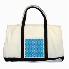 Aqua Hawaiian Stars Under A Night Sky Dance Two Tone Tote Bag by DianeClancy