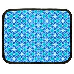 Aqua Hawaiian Stars Under A Night Sky Dance Netbook Case (XXL)  by DianeClancy
