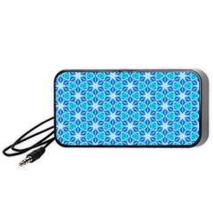 Aqua Hawaiian Stars Under A Night Sky Dance Portable Speaker (black)  by DianeClancy