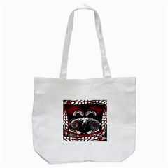 Winged Angel Plain Tote Bag (white) by DryInk
