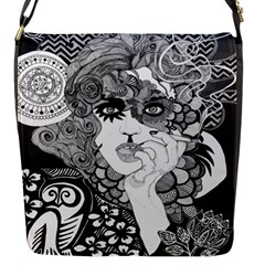 Vintage Smoking Woman Small Flap Closure Messenger Bag (Small) by DryInk