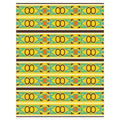 Circles And Stripes Pattern       Large Drawstring Bag by LalyLauraFLM