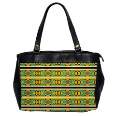Circles And Stripes Pattern       oversize Office Handbag by LalyLauraFLM